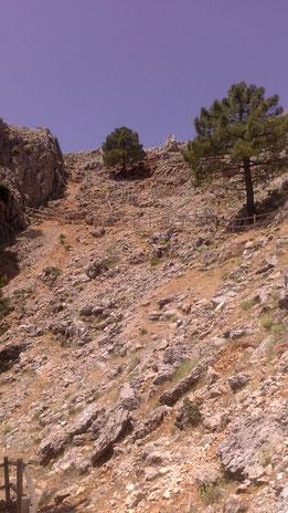Baranda de ascensión al Cambrón en la Sierra de Segura