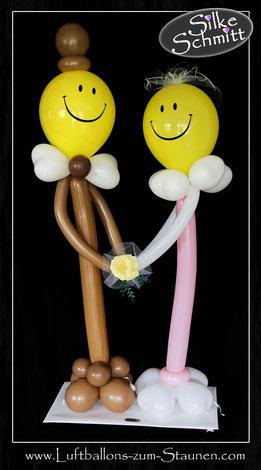 kleines großes  Luftballon Brautpaar Ballon Braut Bräutigem mit Namen personalisiert beschriftet Herz Geldgeschenk Hochzeit witzig Hochzeitsgeschenk