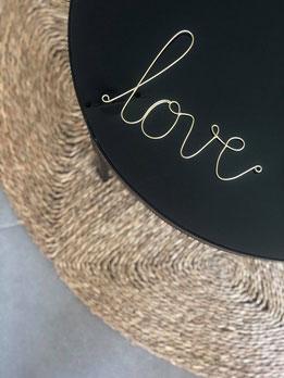 love, déco murale love, déco mur mot, déco mot en fer