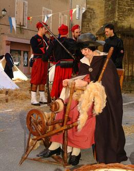 Métier à l'ancienne Festivités Saint Valentin Roquemaure