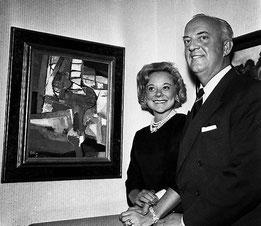 Sonja Henie et son mari Niels Onstad