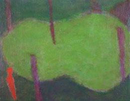 The wood   oil on cotton 31.8×41cm