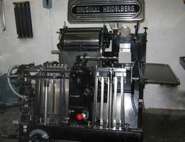 Les petites allées, La typographie, letterpress, Heidelberg, presse typographique