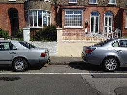 Parking rump to rump