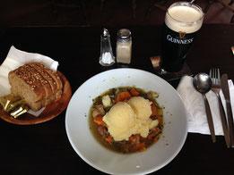 Irish stew and Guinness