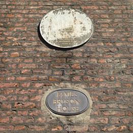 Illegible plaque