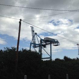 Crane near sea