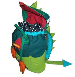 Kinderrucksack Drachen mit Zugband