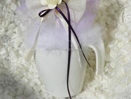 BO010 - Dettaglio tazzina porcellana bianca porta confetti
