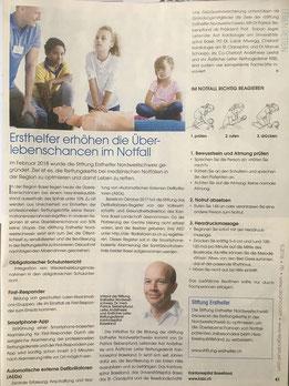 Stiftung Ersthelfer Nordwestschweiz_Zeitungsbericht