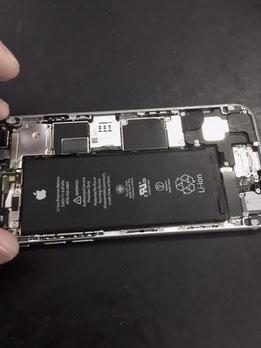 iPhone6の中 バッテリー交換