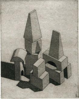 incisione originale di Luciano Ragozzino - misura lastra 110x90 mm