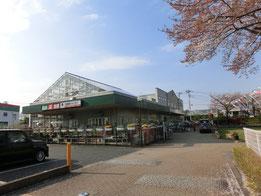 入口を入ると、緑化センターの建物が目の前に