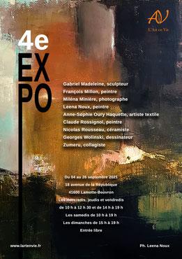 Claude Rossignol - Affiche L'Art en Vie 2021