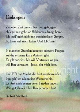 Geborgen Dr. Kurt Scheffbuch
