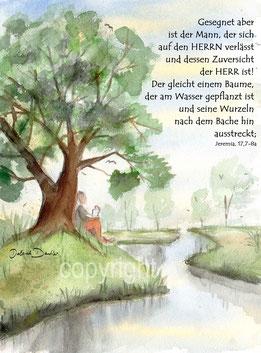 Baum, Bach Mensch, Jeremia 17