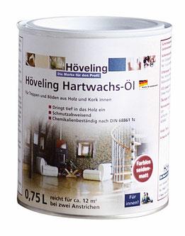 Höveling Hartwachs-Öl - alternative Pflege/Imprägnierung zum Bergotec Aqua-Treppen&Parkett-Lack