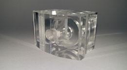 Transparentes Kunststoffformteil aus zerspanender Fertigung