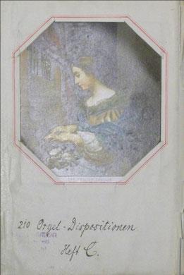 Die heilige Cäcilie auf der inneren Titelseite