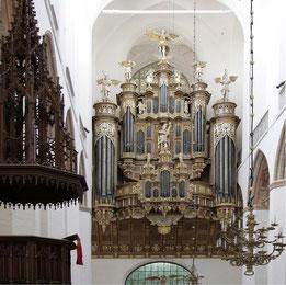 Stralsund, St. Marien, Orgel von Friedrich Stellwagen