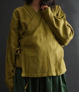 ヂェン先生の日常着 カシュクールカーディガン