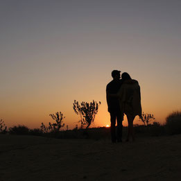 Thar Desert Sunset two people