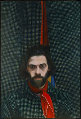 francois beaudry tempera tableau portrait richard gingras série le chercheur de trésors
