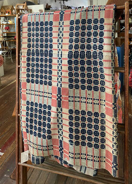 Antique Woven Coverlet $175.00