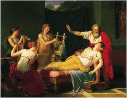 Ducis Louis, Sapho rappelée à la vie par le charme de la musique, huile sur toile, 1811 / Pasadena, Norton Simon Museum