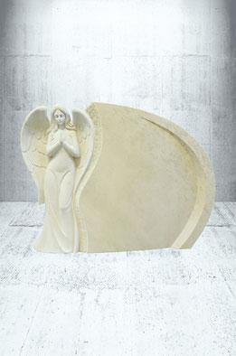 Grabstein Engel stehend