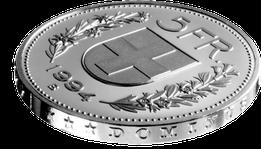 Moneda de cinco Francos Suizos