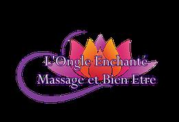 l'ongle enchanté massage et bien être, lotus, logo