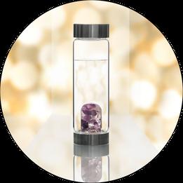 Vita Juwel ViA Glasflaschen mit Edelsteinen