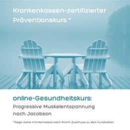 Krankenkassen-zertifizierter Präventionskurs Progressive Muskelentspannung nach Jacobson