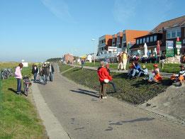 Die Strandpromenade in Cuxhaven-Sahlenburg