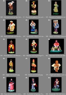 Beispiel: Bilddokumentation meine Santons-Sammlung