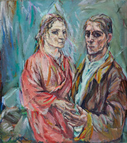 Doppelbildnis Oskar Kokoschka und Alma Mahler, 1912/1913, Museum Folkwang,  Essen, Foto: Museum Folkwang Essen/Artothek,  © Fondation Oskar Kokoschka /  2018 ProLitteris, Zürich
