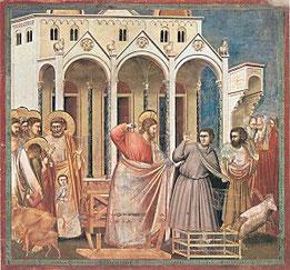 Vertreibung der Händler aus dem Tempel (Giotto um 1305)