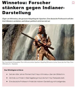 Meldung im Nachrichtenportal nau.ch am 20.06.2019