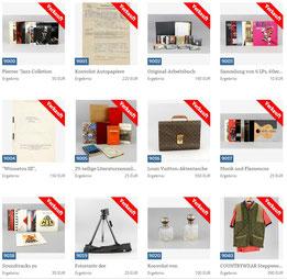 Erste Lots aus dem Auktionskatalog (Abteilung: Pierre Brice - Winnetou)