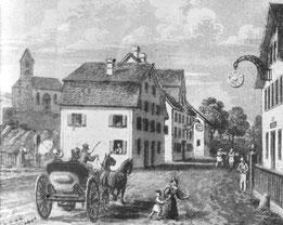 Dorfzenttrum Jona um 1833