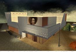 Das neue Besucherzentrum des Karl-May-Museums wurde umgeplant.  © PR/Büro aT2