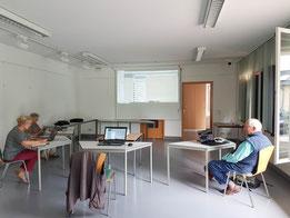 Computergruppe in Coronazeiten