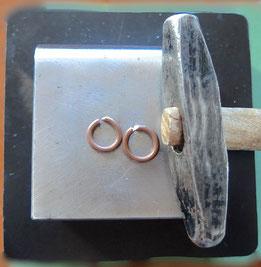 Kupfer-Ohrringe