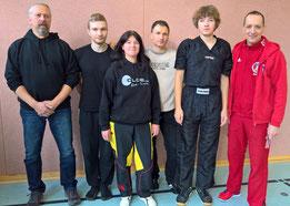 von links: Olli, Sebastian, Sylvia, Ossi, Max und Jimmy