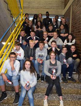 Schüler aus der Normandie besuchten Viersen.⇥Foto: Realschule Josefskirche