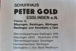 Der Briefkopf des Schuhgeschäfts aus dem Jahr 1933 (9). Die Abbildung ist mit Klicks vergrößerbar.