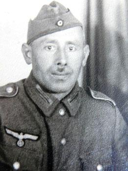 Christian E. als Soldat um 1944