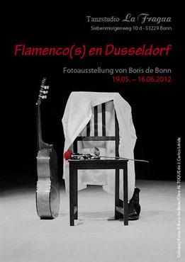 """Titelfoto zur Fotoausstellung """"Flamenco(s) en Dusseldorf"""" von Boris de Bonn in La Fragua; ein Flamenco-Stillleben / Colorkey-Foto by Boris de Bonn aus dem Bühnenstück """"Al toque"""" von J. Carlos Lérida"""