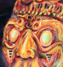 Die blinden Augen des Herrn der Sonne, K'inich Ajaw, dem Sonnengott der Maya